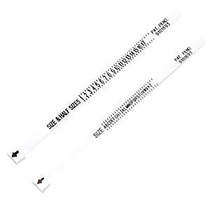 Healifty 2 stücke Ring Sizer Fingerring Dimensionierung Messwerkzeug Multisizer für Männer Frauen Kinder Überprüfen Ringgröße