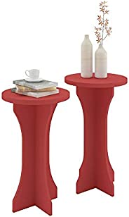 Artely Luck End Tables, Red - Set of 2