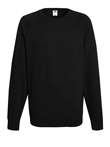 Fruit of the Loom: Lightweight Raglan Sweat 62-138-0, Größe:2XL;Farbe:Black (Loom Raglan Sweatshirt)