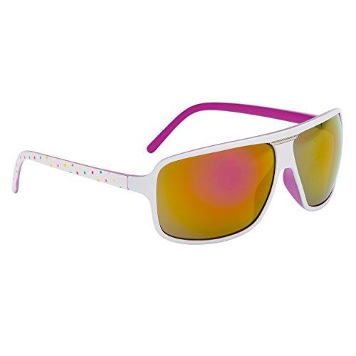 Alpina Fahrradbrille Sportbrille Sonnenbrille Brille MANJA white dots-purple