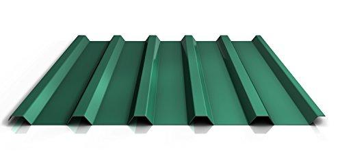 Trapezblech | Profilblech | Dachblech | Profil PS35/1035TR | Material Stahl | Stärke 0,45 mm | Beschichtung 25 µm | Farbe Nadelgrün