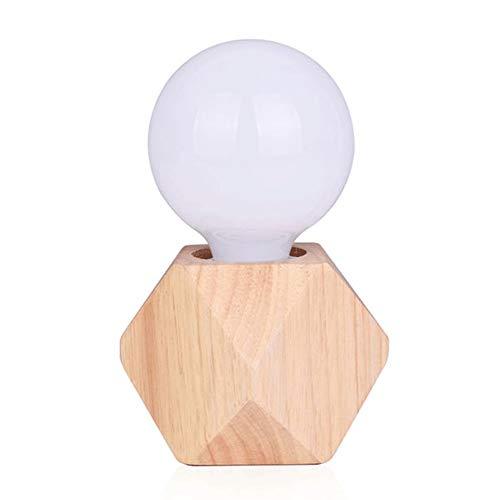 Lampes de bureau en bois industriel vintage, base de lampe de table de bricolage Edison ampoule, Loft table de chevet lit de nuit cadeau de lumière pour petite amie salon chambre café restaurant Home