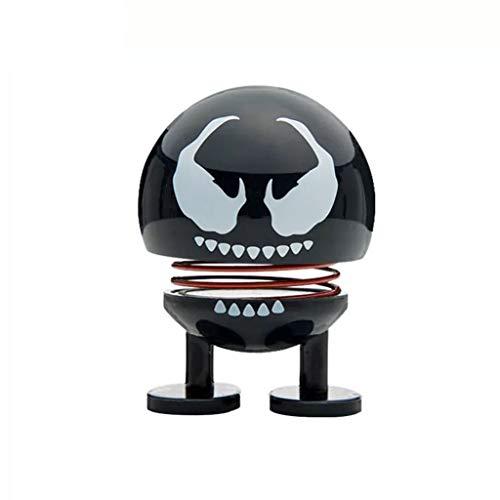 SSRS Avengers Superheld Spielzeug Auto Puppe Venom Black Spiderman Rocky Singular Dr. Auto handgefertigte Ornamente Schütteln Kopf Frühling Bösewicht Avengers Infinity war Krieg Toys (Farbe : Venom) (Venom-kopf)