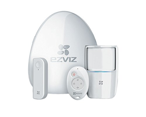 Ezviz A1 Kit Internet Alarm, Sistema di Allarme Wireless, Supporta Fino a 32 Rilevatori, Invio Notifiche in Tempo Reale Push, Connessione a Cloud EZVIZ Tramite Wi-Fi, Guida Vocale, Bianco