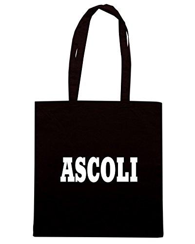 T-Shirtshock - Borsa Shopping WC0895 ASCOLI ITALIA CITTA STEMMA LOGO Nero