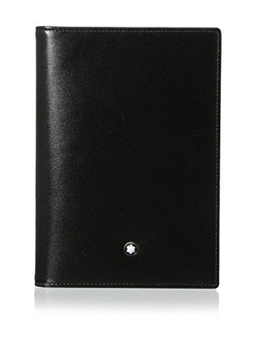 Montblanc sacchetto del passaporto cassa di carta, nero