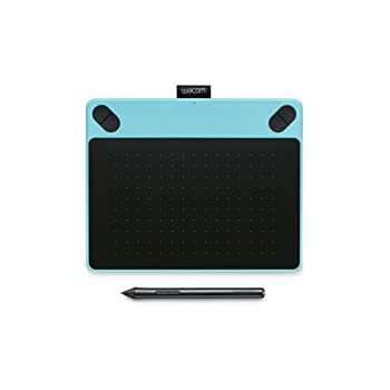 Wacom CTL-490DB-S Intuos Draw Tavoletta con Penna Piccola, Software Creativo Disegno, Value Pack per Stampe Digitali, Blu