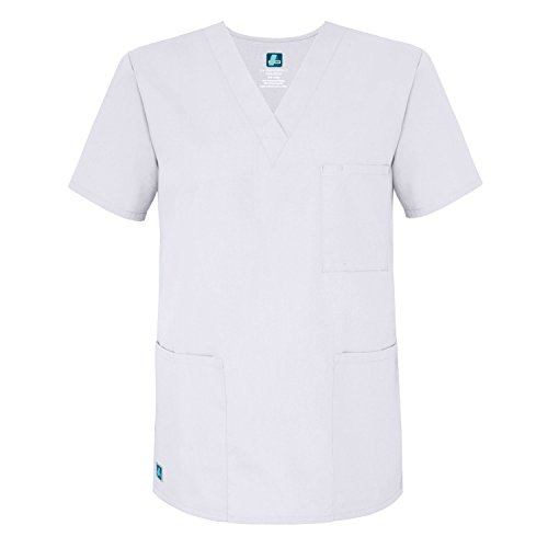 ADAR UNIFORMS Medical Uniforms Unisex V-Neck Tunic 3 Pocket Hospital Nurse Scrub Top
