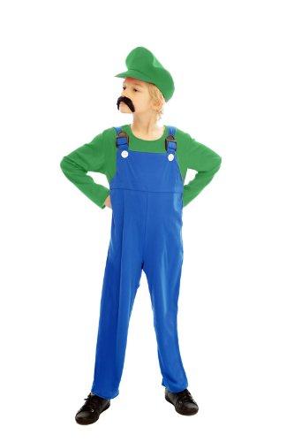Kinderkostüm Super Arbeiter Luigi (Kostüme Und Mario Uk Luigi)