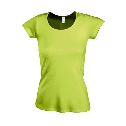 SOLS Moody - T-shirt à manches courtes et encolure large - Femme Turquoise