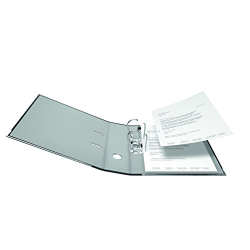 Falken PP-Color Kunststoff-Ordner 8 cm breit DIN A4 schwarz Ringordner Aktenordner Briefordner Büroordner Plastikordner Schlitzordner - 3