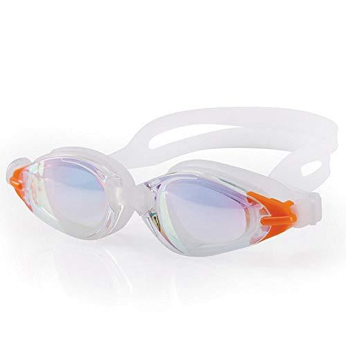 LBXMLX Anti-Fog-Schwimmbrille Bunte Galvanobrille wasserdichte Anti-UV-Schwimmbrille für Erwachsene und Männer Kinder Augenschutz @ Transparent