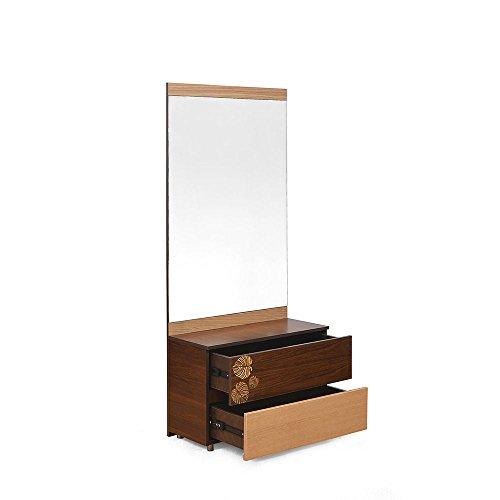 @home by Nilkamal Prado Dresser with Half-Mirror (Brown)
