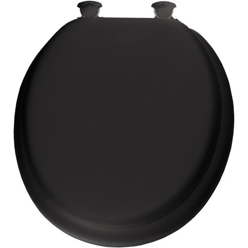 Bemis 13EC 047 Lift-Off Soft Round Closed Front Toilet Seat, Black by Bemis (Wc-sitz Round Soft)