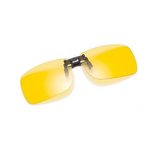 Cyxus Polarisierte, verspiegelte Sonnenbrille, zum Aufstecken, blendfrei, UV-Schutz, Brille zum Fahren/Angeln, Herren und Damen, Night Vision, Quadrat