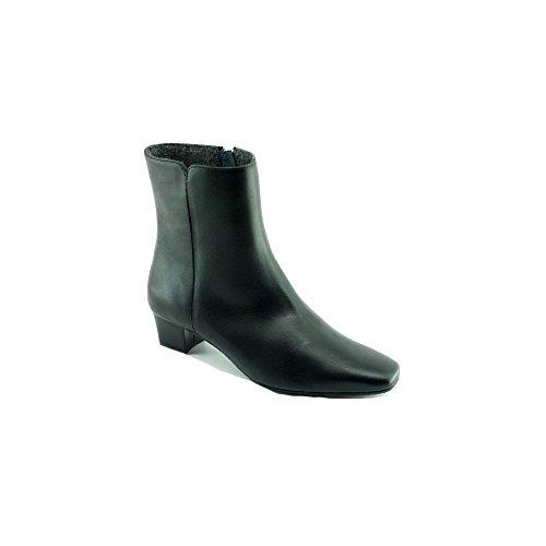 Escarpins d'Hotesses Roissy Feutre Alarm Fre Boots Noir Doublée Feutre Bout carré - Petites Et Grandes Pointures
