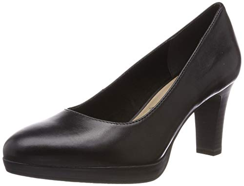 Tamaris Damen 1-1-22410-22 Pumps, Schwarz (Black 1), 39 EU - Pumps Leder