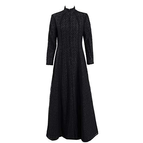 Zhangjianwangluokeji Damen Schwarz Lang Kleid Berühmt Film-Charakter Kleid Cosplay Kostüm (M)