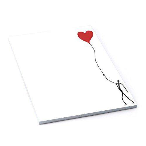 Briefpapier schwarz weiß rot HERZ Briefblock Schreibblock Notizblock DIN A4 HERZMENSCH 50 Blatt 120g stark! Orig. Design Andrea Zrenner