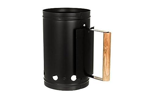 LIVIVO Barbecue BBQ Chimney Charcoal Starter Lighting Kit Light Quickly Barbeque BBQ Lighter (BLACK)