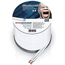 OEHLBACH 192 Wire SP de 25 cable para altavoz (2 x 2,5 mm², Mini Bobina de 10 m color blanco/transparente cable de audio - cables de audio (Mini Bobina de 10 m color blanco/transparente)