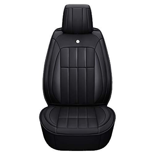 Auto Sitzbezug Leicht zu Reinigen PU Leder Auto Sitzkissen 5 Sitze Full Set Four Seasons Universal,Black -
