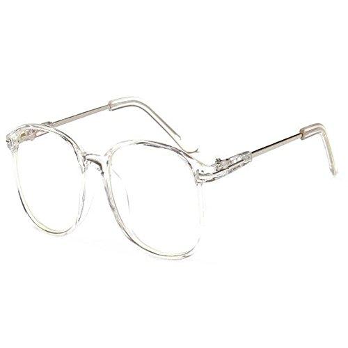 Zhuhaixmy Mode Klare Linse Brille Vintage Optische Gläser für Damen Herren Runde Metall Rahmen Brillen