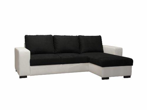Pole DIANAAAMR2467 Dodi Angle Convertible Rversible Blanc/Noir 249 x 157 x 86 cm
