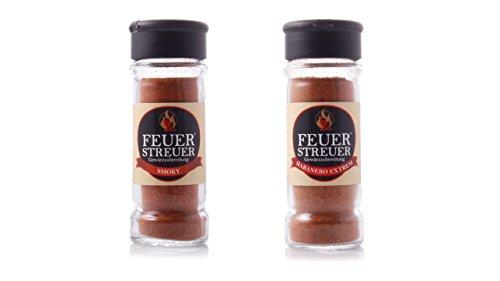 FeuerStreuer - Habanero Extrem & Smoky - Die schärfsten FeuerStreuer im Doppelpack (Rub Cowboy-steak)