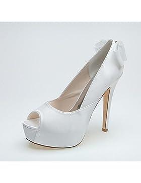 RTRY Donna Scarpe Matrimonio Formale Di Raso Scarpe Primavera Estate Party Di Nozze &Amp; Sera Stiletto Heel Bianco...