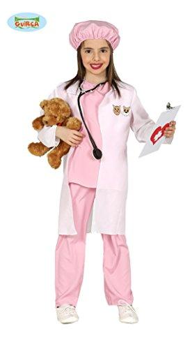 rosa Tierärztin Kostüm für Mädchen Gr. 98-134, Größe:128/134