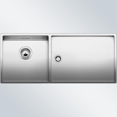 Preisvergleich Produktbild Blanco Claron 400/450-T-U Edelstahl Seidenglanz Spülbecken Küchenspüle Unterbau
