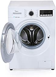 Midea MFG80 Front Load Fully Automatic Washing Machine 8Kg 1400RPM White, 1 Year Warranty