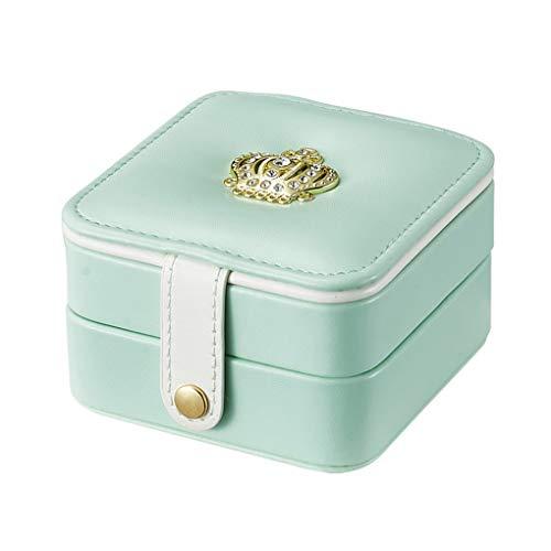 Rolin Roly Schmuckkästchen Doppelschicht Klein Schmuckbox Reise mit Spiegel Jewelry Box 11 x 9 x 6cm ()