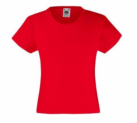 Mädchen T-Shirt Girls Kinder Shirt - Shirtarena Bündel 140,Rot
