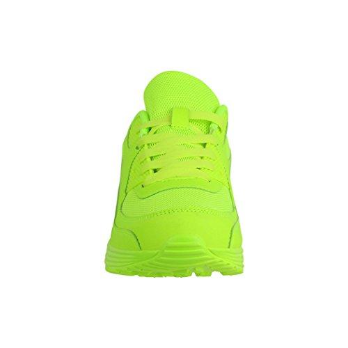 Elara Trendige Unisex Sneaker | Damen Herren Kinder Sport Laufschuhe | Turnschuhe | Chunkyrayan Green New N.Y