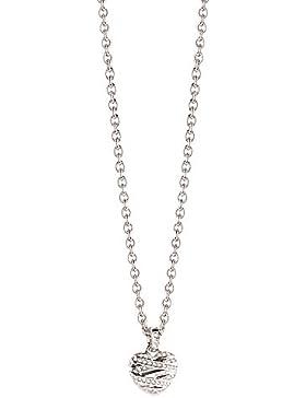 Guess Damen-Kette mit Anhänger Herz Messing Glas weiß 45.5 cm - UBN21608