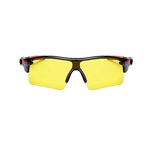 Belingeya Polarisierte Sport-Brille, Radfahren, Sonnenbrille, UV-Schutz, Farbwechsel-Gläser, mit Riemen, für Reiten, Autofahren, Angeln, Golf, HD Night Vision