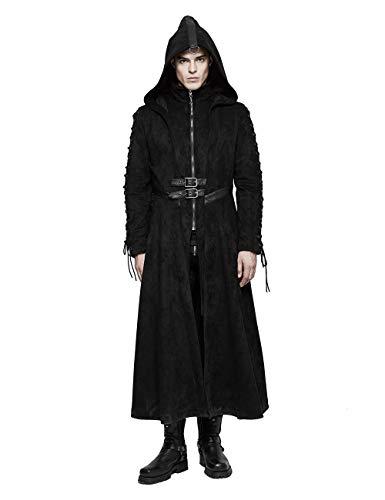 Punk Rave Herren Schwarze Winter Gothic Dark Angel Langer Mantel L (Herren Dark Angel Kostüm)