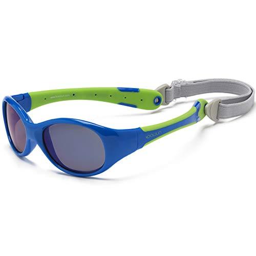 KOOLSUN Flex Baby-Sonnenbrille, 0-3 Jahre, Blau/Limettengrün