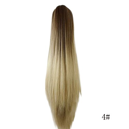 kashyk Damen Perücken, lang Glattes Haar, Mode Natur Hitzeresistente Kunsthaar,Haarersatz Cosplay Perücke, Ostern ()