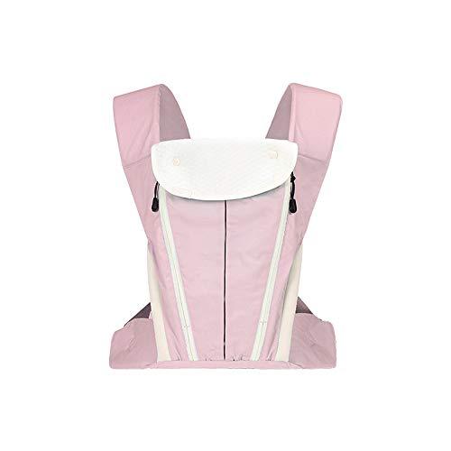TLTLYEBD Portabebés de algodón ergonómico, Four Seasons multifuncional - Portabebés delantero y trasero + Gorra contra el viento, azul, rosa (20 kg, 0-36 meses) (color : Pink)