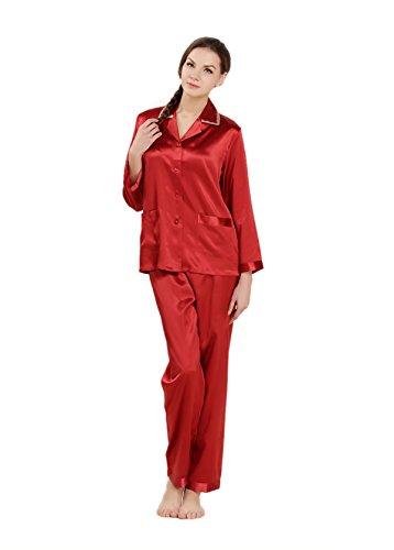 AORUI - Chemise de nuit - Femme Rouge - Rouge