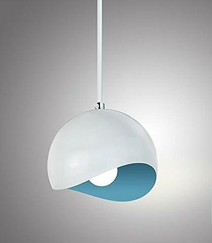 SDKKY-Drei moderne minimalistische Einkopf führte Schreibtischlampen, Farbe der Mond Kronleuchter,Blau