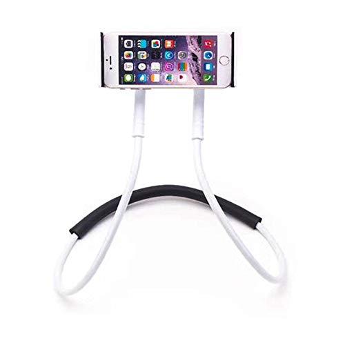 CRSM Flexible Handyhalterung Hängenden Hals Faul Halskette Halterung Smartphone Halterung Für iPhone Hirse Huawei Weiß