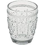 Anton Studio Designs Savoie  Juego de 6 vasos de cristal doble retro transparentes