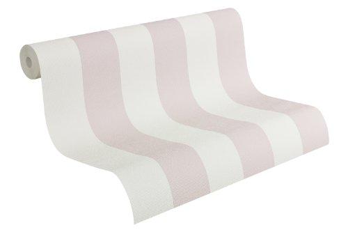 Fleuri Pastel Tapete - Material: in rosa, weiß (Nr. 7691-9229)