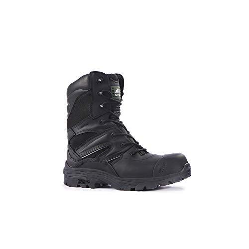 Rock Fall Sicherheitsstiefel mit Zehenschutzkappe, aus S3HRO SRC Komposit, Wasserdicht, Titan Schwarz, schwarz, RF4500 Titanium 12, 0 voltsV -