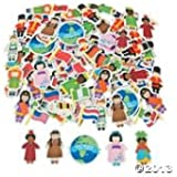 Kids Around the World Foam Self Adhesive Shapes (pack 100)