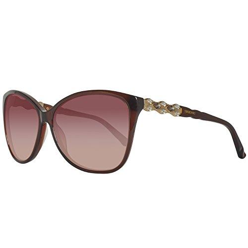 Swarovski Damen SK0085-6048F Sonnenbrille, Braun (Shiny Dark Brown), 60